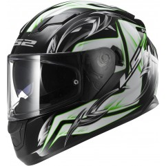Casco LS2 FF320  STREAM STEEL - White Black Green