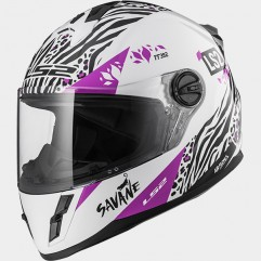 Casco LS2 FF392 JUNIOR SAVANE WHITE PURPLE