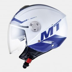 Casco MT CITY ELEVEN SV SMART BLANCO PERLADO/AZUL BRILLO