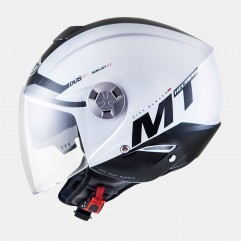 Casco MT CITY ELEVEN SV SMART BLANCO PERLADO/NEGRO BRILL