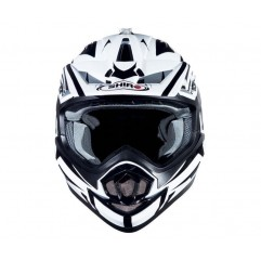 Casco Shiro MX734 CROSS WHITE BLACK