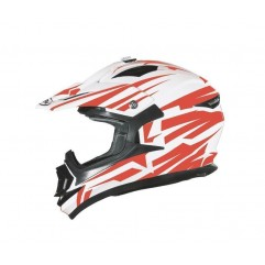 Casco Shiro MX734 CROSS WHITE RED