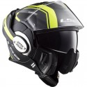Casco LS2 FF399 VALIANT LINE - MATT BLACK HI-VIS YELLOW