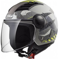 Casco LS2 OF562 AIRFLOW - CAMO MATT TITANIUM