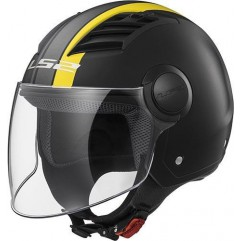 Casco LS2 OF562 AIRFLOW - MATT BLACK YELLOW