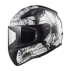 Casco LS2 FF353  RAPID POPPIES - BLACK WHITE