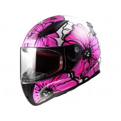 Casco LS2 FF353  RAPID POPPIES - PINK