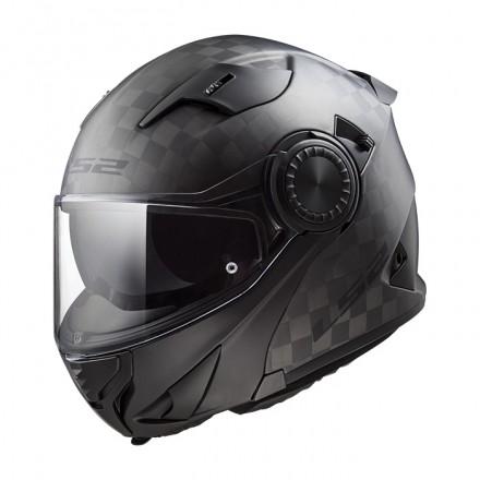 Casco convertible LS2 Helmets FF313 VORTEX SOLID - MATT CARBON