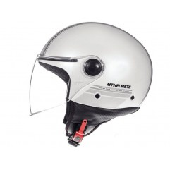 Casco MT STREET ENTIRE E6 GLOSS PEARL WHITE