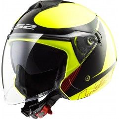 Casco LS2 OF577 TWISTER PLANE - Black, Yellow.