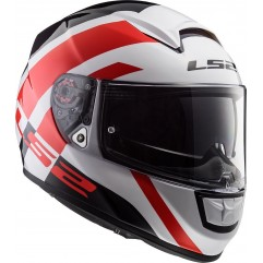 Casco LS2 FF397 VECTOR TRIDENT - White, Red