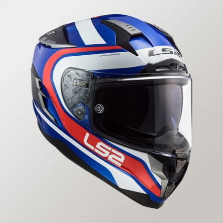 Casco LS2 FF327 CHALLENGER FUSION BLUE RED