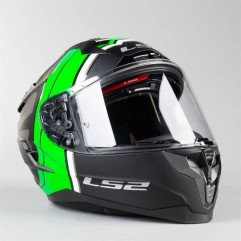Casco LS2 FF327 CHALLENGER RANDY MATT BLACK GREEN