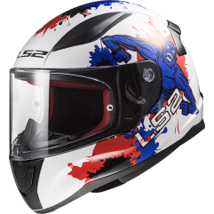 Casco LS2 FF353 RAPID MINI MONSTER WHITE BLUE
